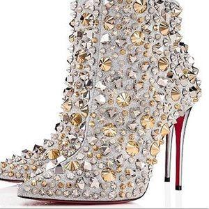 Shoes - Christina louboutin rhinestone and studded booties